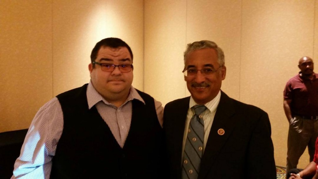Supterintendent Young (left) and U.S. Rep. Bobby Scott (right). Representative Scott co-sponsored the bill (PREA) in Congress.